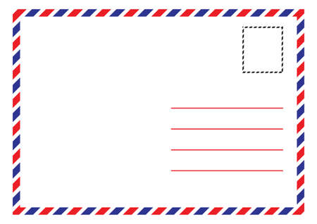 Envelope Air Mail Par Avion Letterhead Envelope Icon in trendy flat style Çizim