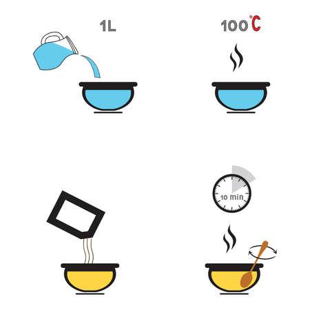 料理の準備、スープ、食品の調理...