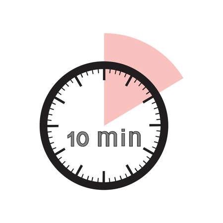 10 minuten timer kantoor klok met roze segment
