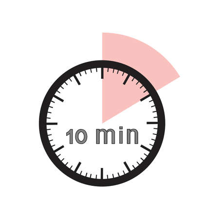 10 minutes timer office clock with pink segment