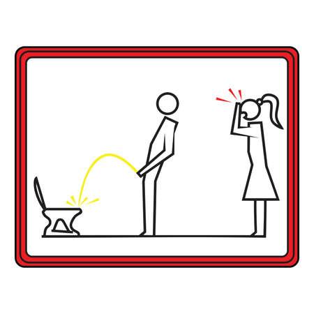 pissing: Toilet icon set . Vector illustration