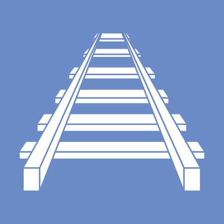 Railroad vector icon , railway icon Illustration