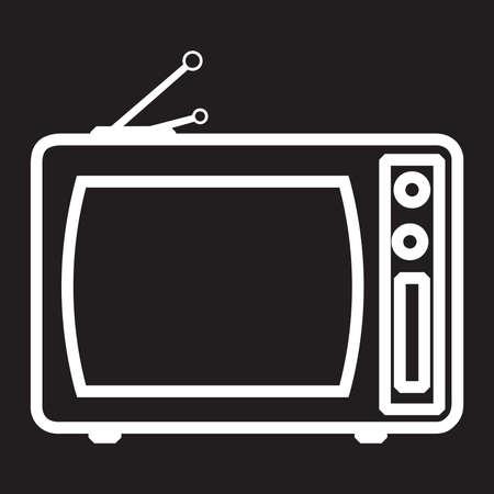 retro tv: Old And Retro TV Vector Illustration