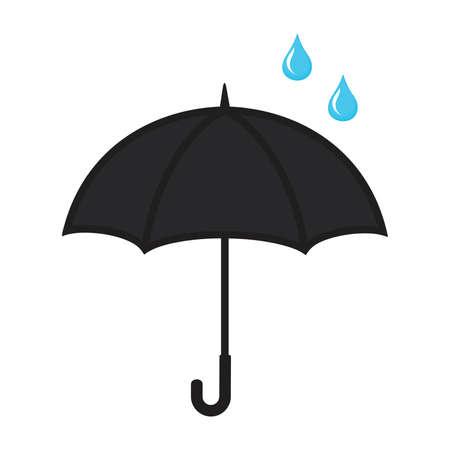 umbrella with a drop vector icon Illustration