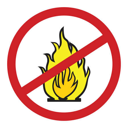 No fire vector sign Illustration