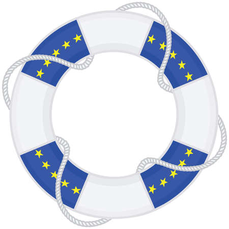 lifebelt: lifebelt vector European Union Flag
