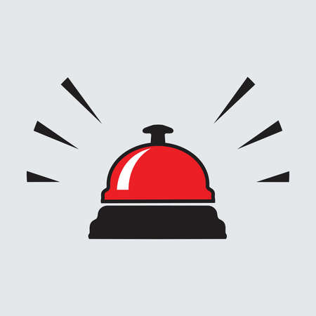 Bell icon isolated Vector art. Illustration