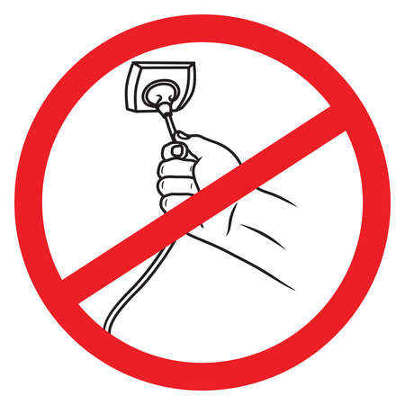 unplug: Turn Off The Cable Vector