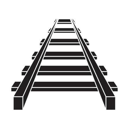Railroad vector icoon, spoor pictogram Stock Illustratie