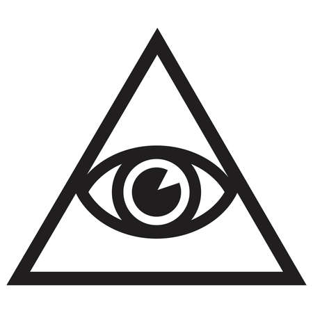 Illuminate - symbolic icon with all seeing eye Illustration