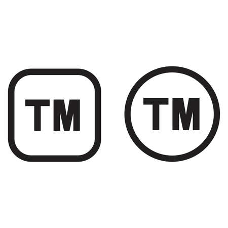 tm: TM - vector icon Illustration