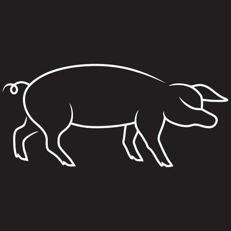 beck: Pig Vector background black