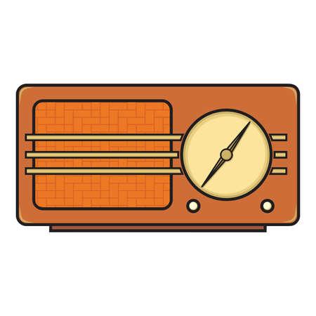 retro: Retro radio Illustration