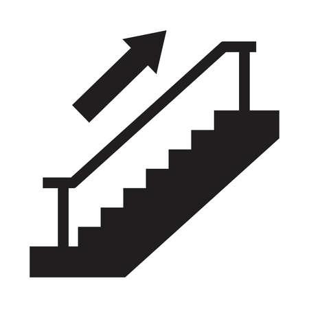 Icône de vecteur d'escalier Banque d'images - 71403932