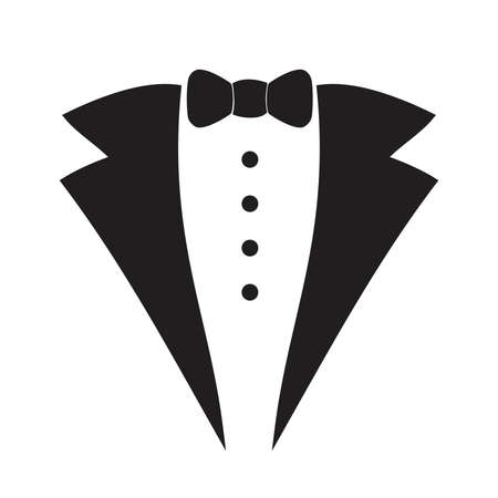suite: Waiter suit icon isolated . Vector art. Illustration