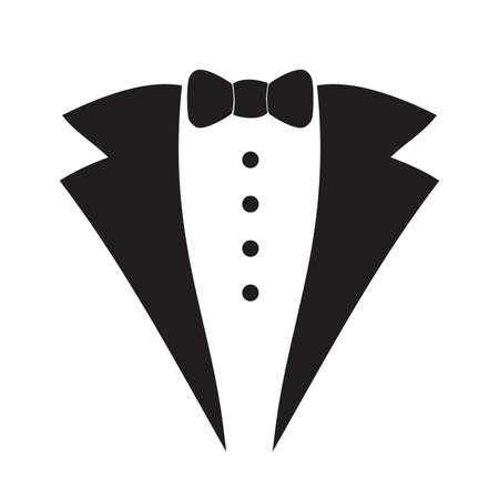 Waiter suit icon isolated . Vector art. Illustration