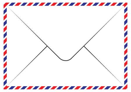 par avion: Envelope Air Mail Par Avion Letterhead Envelope Icon in trendy flat style Illustration