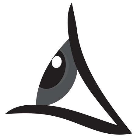 human eye: Eye Vector The Human Eye In Profile vector Illustration