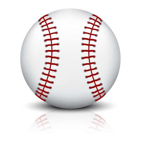 Baseball ball isolated on white background Vecteurs