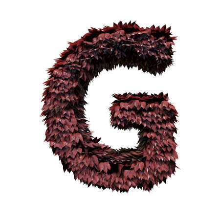 Foliage Letter G, 3D Rendering