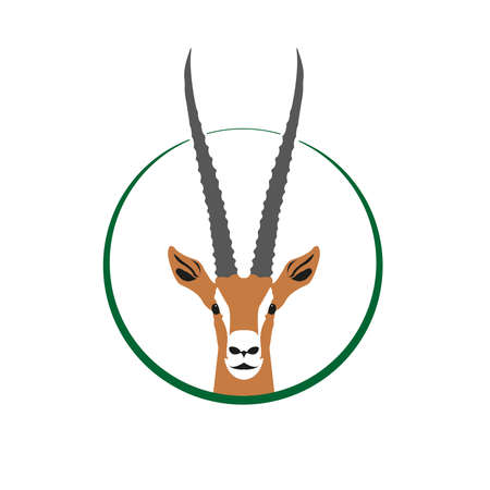 Gazelle Logo, Gazelle head in the circle