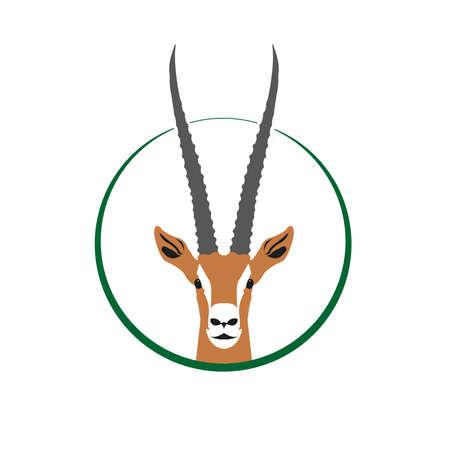 Logo Gazelle, Tête de Gazelle dans le cercle Logo