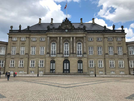 Danish royal palace and square