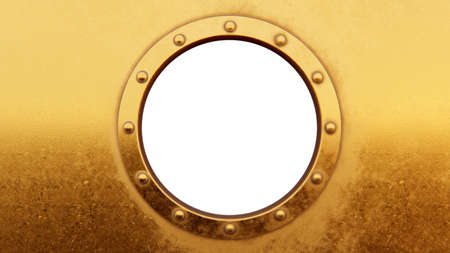 Round metal frame isolated on the white Standard-Bild