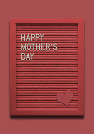 Message board Happy mothers day with heart