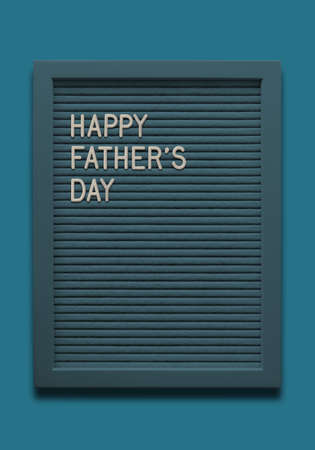Blue Message board Happy fathers day  on the blue background