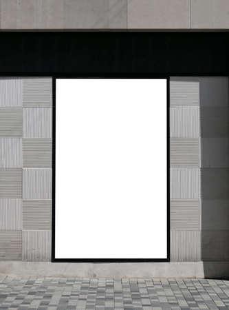 Big blank billboard in Copenhagen walking street