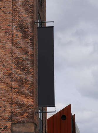 Blank banner canvas on the building Copenhagen Standard-Bild
