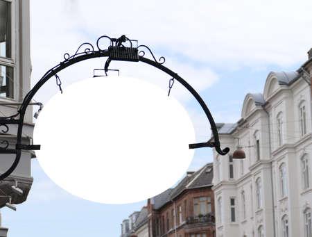 Blank oval signboard on the wall Copenhagen
