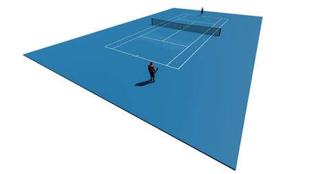Blue tennis court Standard-Bild