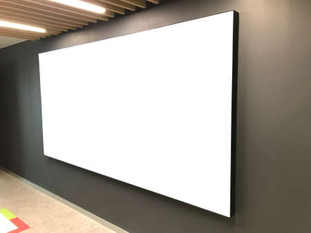 Blank billboard in the shopping mall