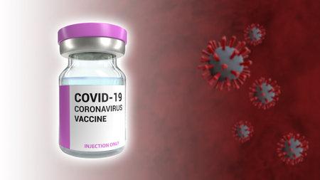 Covid 19 Coronavirus vaccine 3D rendering