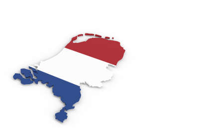 Map of Holland with Holland flag 3D rendering Banque d'images - 161933467