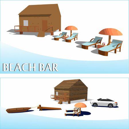 jetty: Beach bar, small jetty, nice car sun and chairs