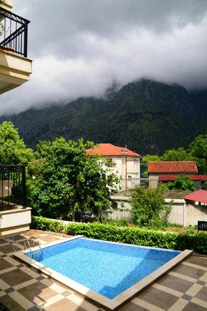 Luxury condominium and high mountains