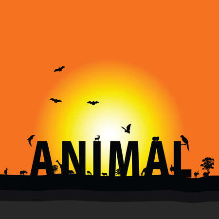 animal nature color vector illustration Vector