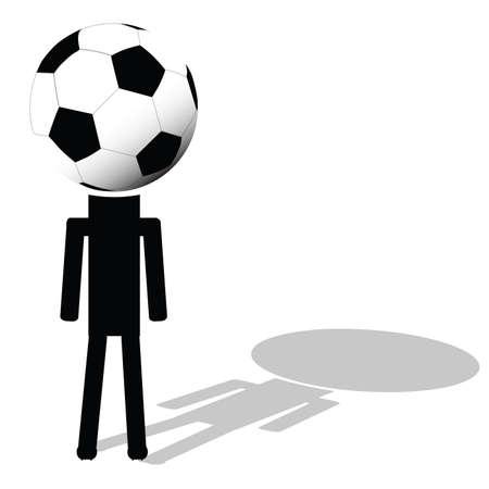 ball like: football ball like had of player illustration