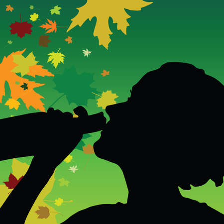 girl drink alcohol color vector illustration Vector