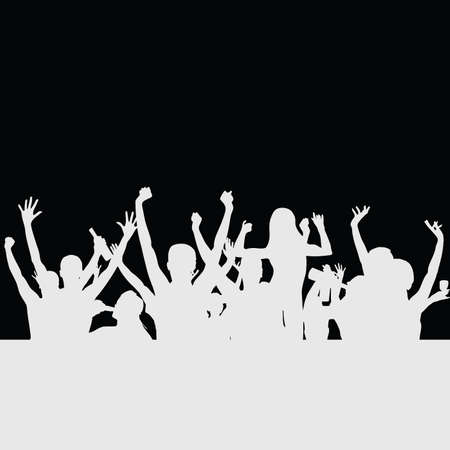 people party silhouette illustration