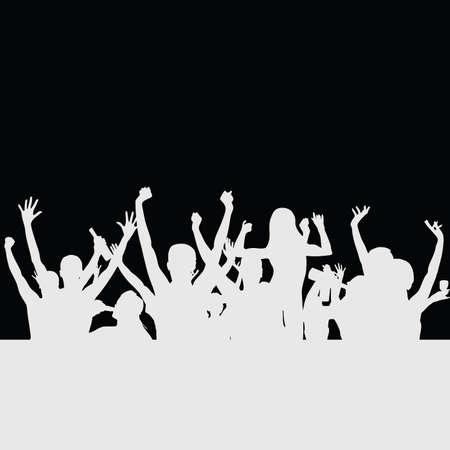 Volkspartei Silhouette Illustration Standard-Bild - 32407902