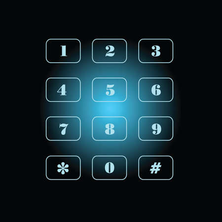 phone number on black and blue background