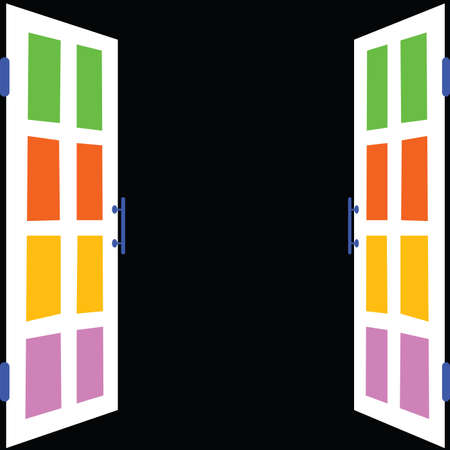 white window: ventana en blanco con fondo negro ilustraci�n