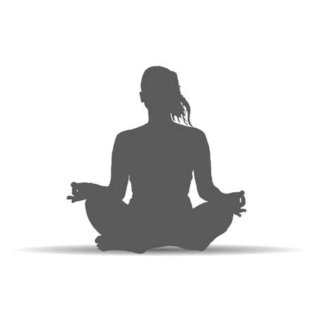 woman in yoga poses silhouette art