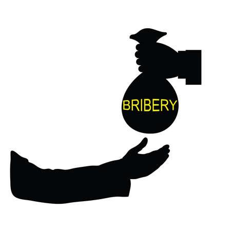 payola: bribery black vector illustration