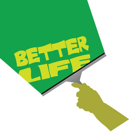 better: cleaning for better life illustration with green background
