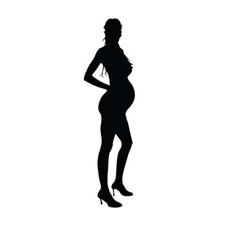 expectant: expectant mother vector illustration Illustration